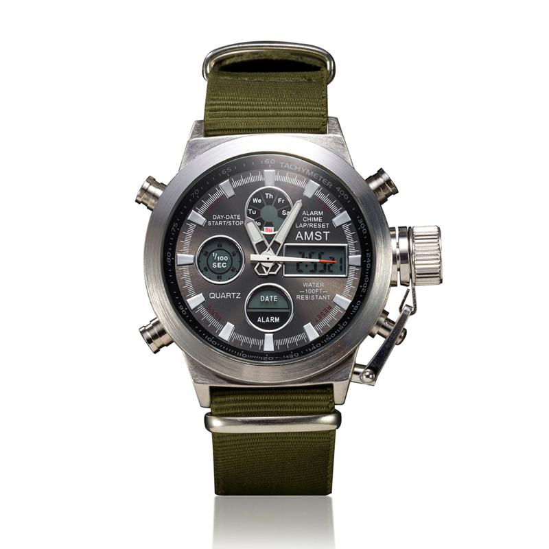 2015 amst brand dive led watches men sport military watch