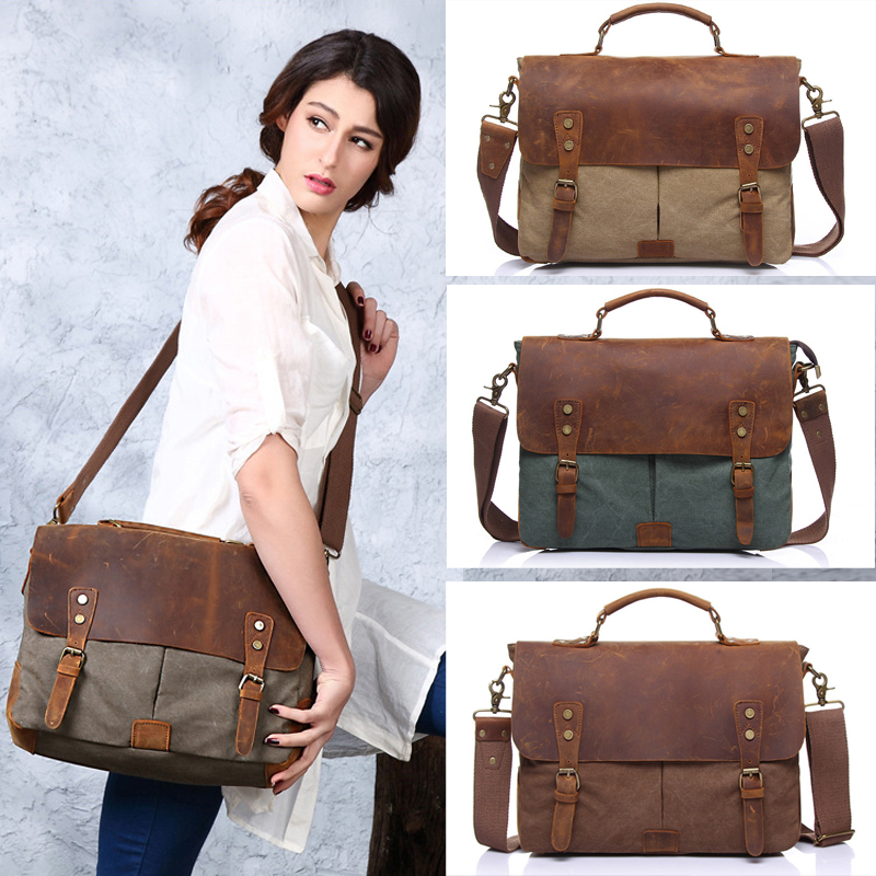 Canvas men messenger bags,Vintage crossbody bags for women Casual ...