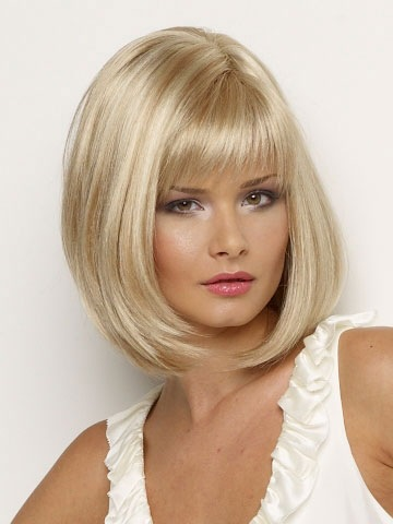 2015 Hot Sale New Synthetic Wigs Short Straight Hair Blonde Wig For Women  Glamorous Fashion Free shipping