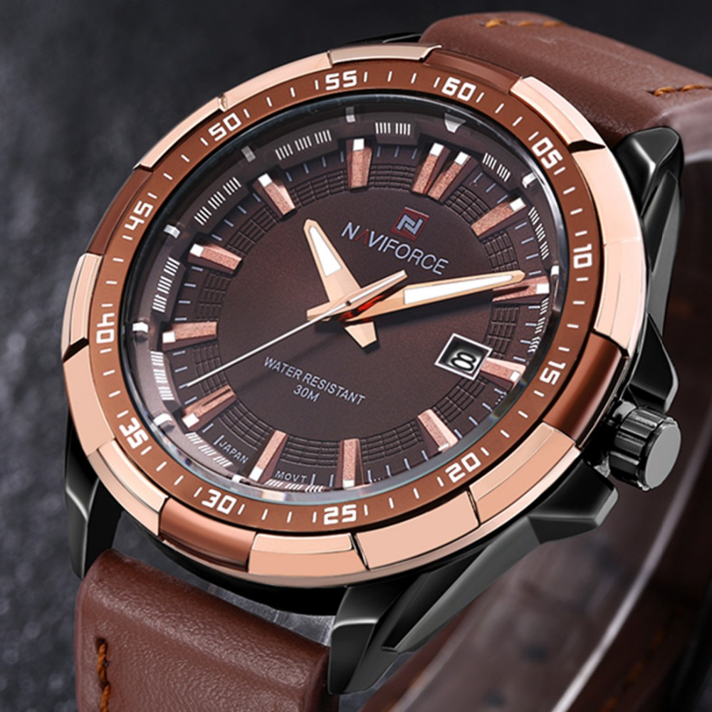 with wrist brown mens casual number waterproof business watch big analog leather retro unique classic calendar com wristwatch face quartz amazon watches fashion band dp dress