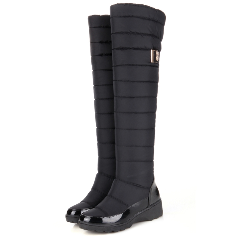 Women's Over Knee High Winter Boots Female Rubber Sole Warm Fur ...