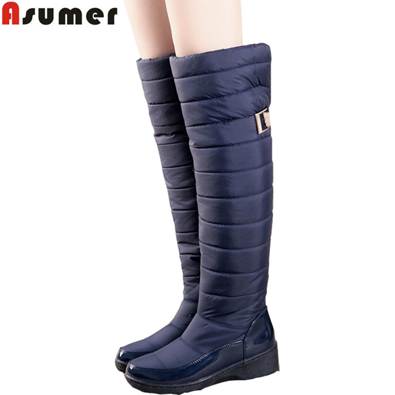 7a61ec96d11 AISIMI keep warm snow boots fashion platform knee high winter boots for  women shoes