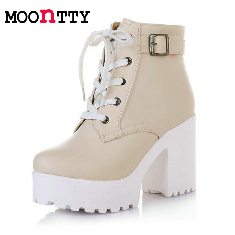 573d399d406 winter Lace-Up Fashion platform boots for women Ankle boots punk Martin  boots