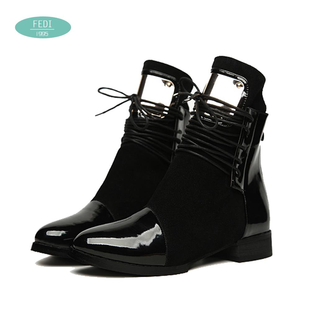 36-43 Women Boots Genuine Leather Flat