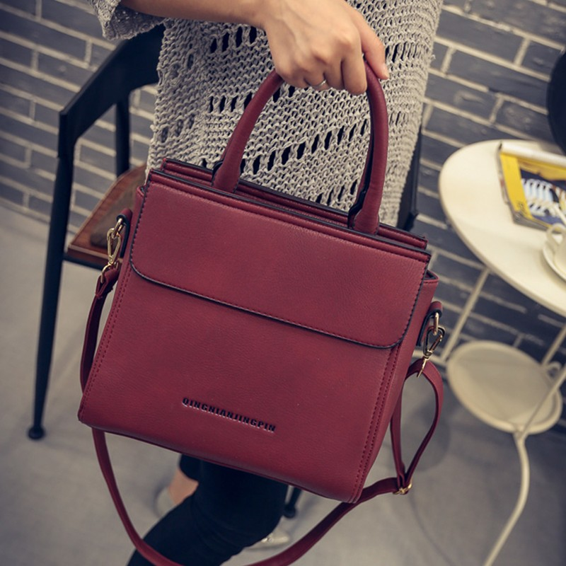aab81fc86ae3 Vintage Handbag Women s Handbag Big Bag Wine Red Brief Women s Messenger Bag