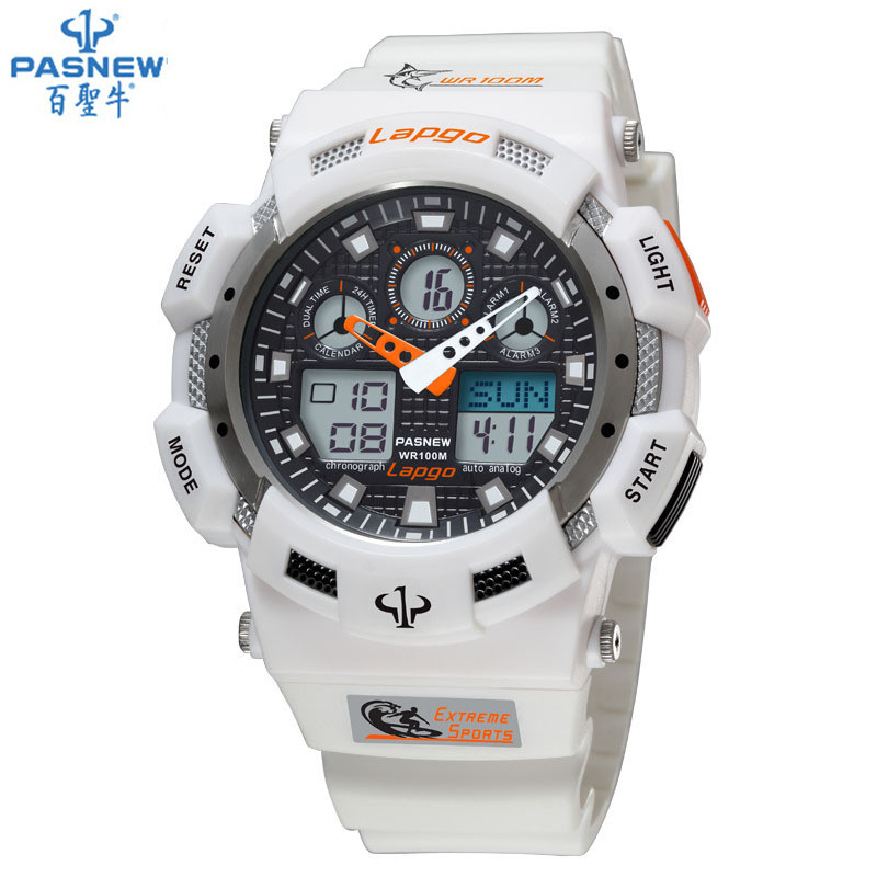38a3dff7fc62 HOT sale Pasnew PLG-1002AD diving watch waterproof 100m Countdown swimming  Stopwatch digital watch sport watches for men w076