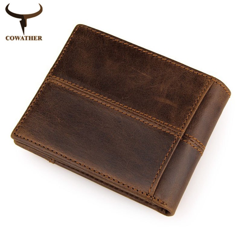 100% top quality cow genuine leather men wallets, fashion ...