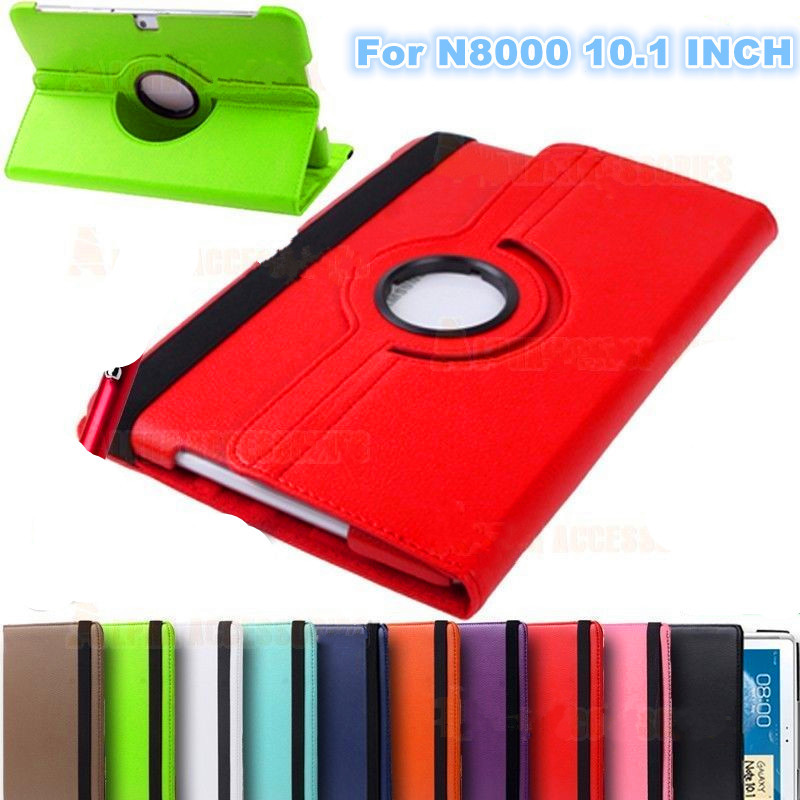 For samsung N8000 case Galaxy Note 10.1 gt-n8000 tablet case N8010 360 Degrees Rotating Stand PU Leather Flip Case Free shipping