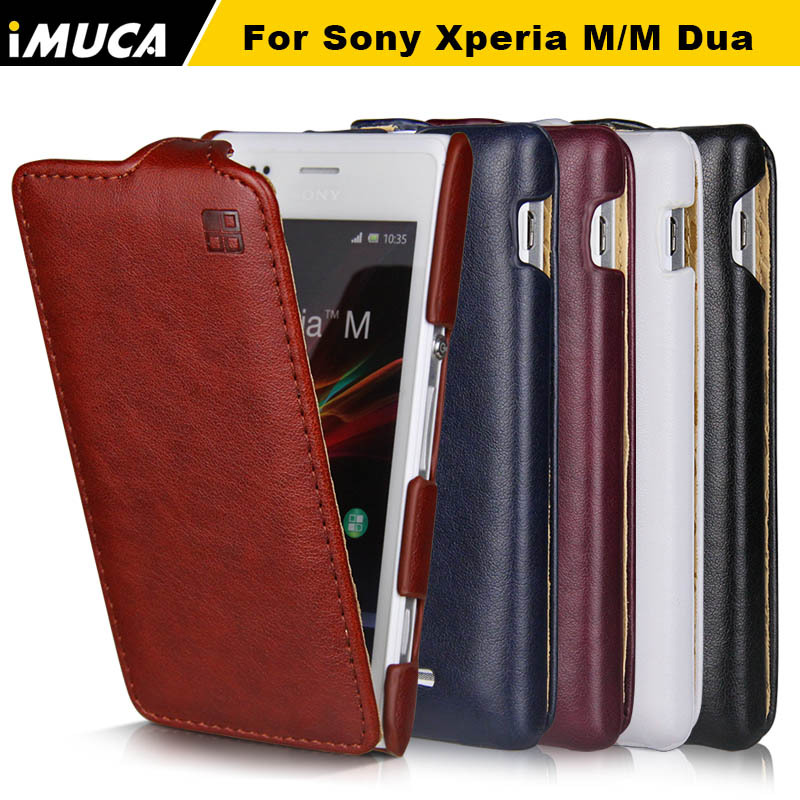 cheap for discount 8b994 65a47 Case for Sony Xperia M iMUCA Luxury Flip Leather Case Cover Pouch for Sony  Xperia M C1905 C1904 Dual C2004 C2005 Phone Cases