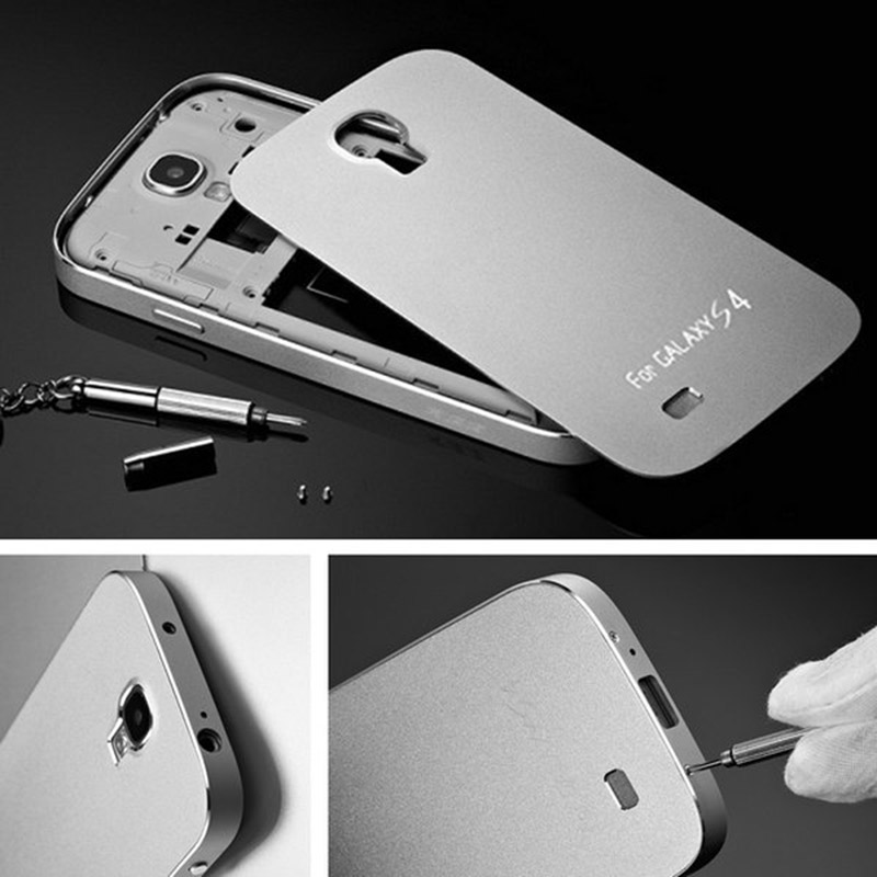 half off 93140 18399 No Screw 0.04KG Anti-scratch Matte Metal Aluminum Hard Case for Samsung  Galaxy S4 i9500 SIV S IV Mobile Phone Bag Cover Battery
