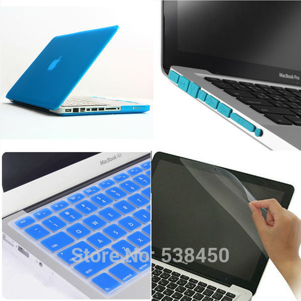 Free Shipping 15 colors 4in1 Matte Hard Case Cover + Keyboard Cover ...
