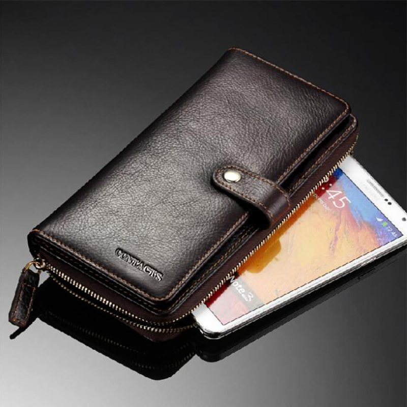 DUCIO Brand Men\'s Wallets Genuine Leather Male Wallet Purse Cases ...