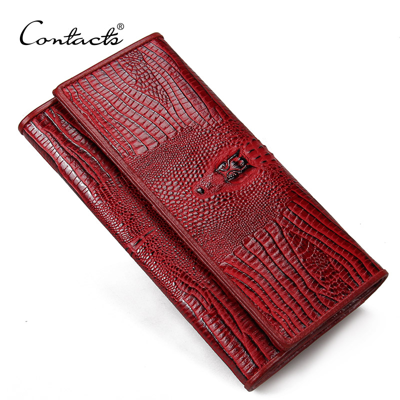 4c421b2ebcf4a Guarantee Genuine Leather Ladies Women Wallets Purse Long Alligator Wallet  Women Elegant Female Women s Wallets Leather Wallet