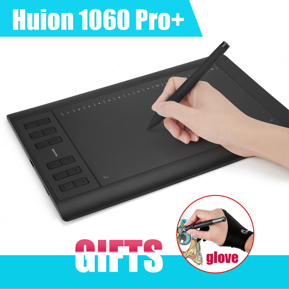 New Huion 1060 Pro Digital Graphic Tablets Drawing Tablet Board With Pen Usb P0014331 Free