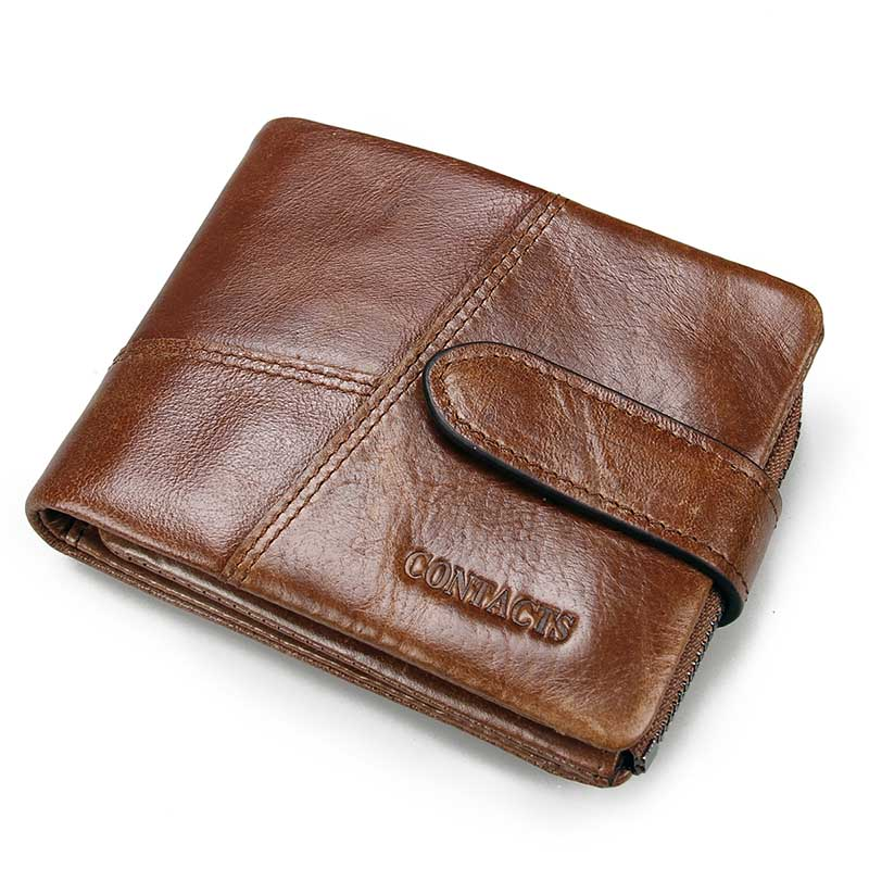 458ac3a7dae2d Classical European and American Style Men Wallets Genuine Leather ...