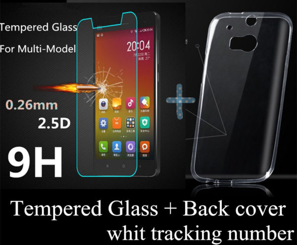 Lenovo A536 case Ultrathin clear TPU phone Cases cover Lenovo A536 a369i + Tempered Glass Screen Protector ...