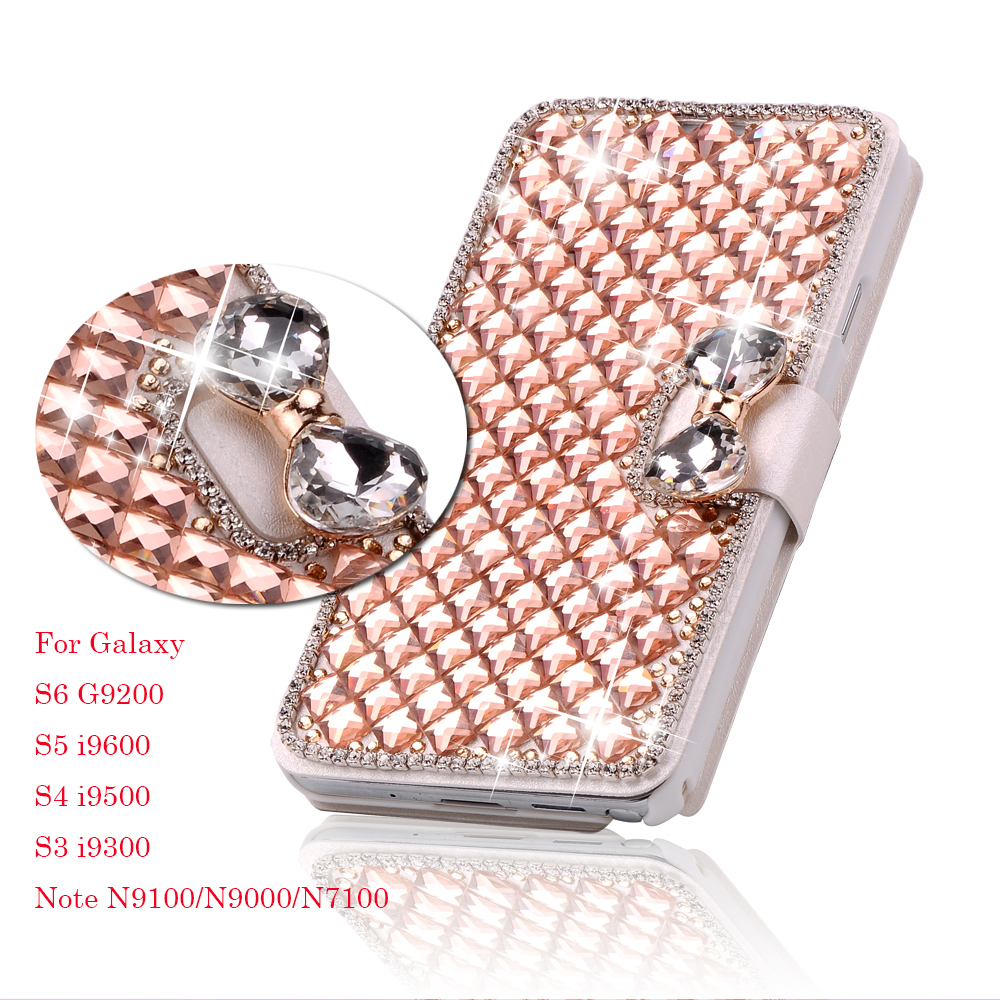 super popular 4160c aeb9f Luxury Bling Crystal & Diamond Leather Flip Lady Bag Cover For Samsung  Galaxy S5 SV , S4 IV ,S3 III ,3 Models Phone Case Cover