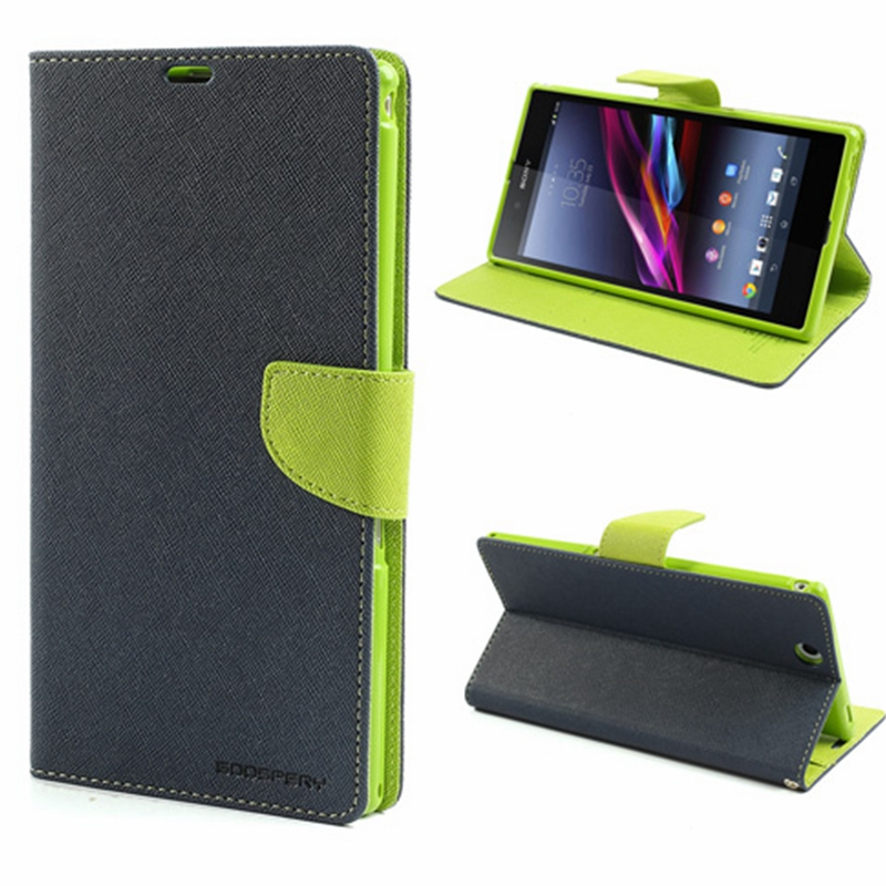 finest selection ca3d6 a6422 1x Mercury Fancy Diary Leather Wallet Case & many other color Leather Case  Stand For Sony Xperia Z Ultra C6806 C6802 C6833 XL39h