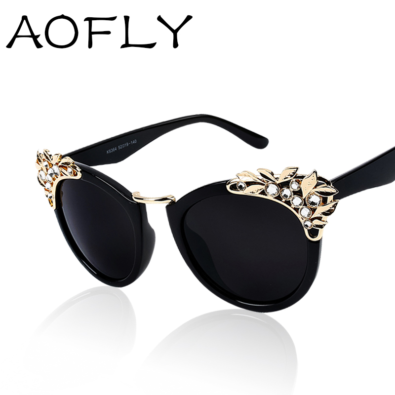 8472b8651e91 New 2015 Luxury quality Sunglasses Women Jewelry Sun glasses Flower  Decoration Vintage Shades European style oculos de sol S1619