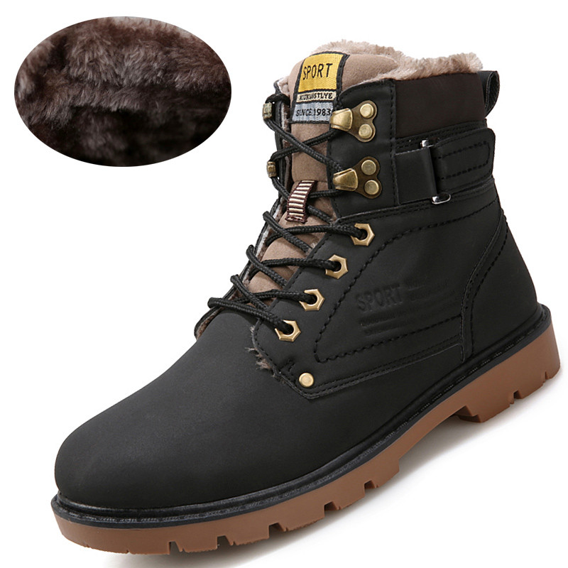 2015 New Fashion Mens Leather Shoes Waterproof Men boots ...