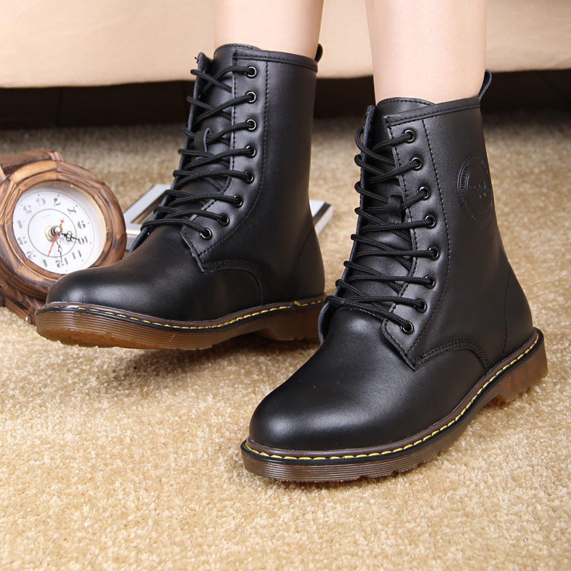 New Style Dr. Genuine Leather women Boots Martin winter Shoes for ...