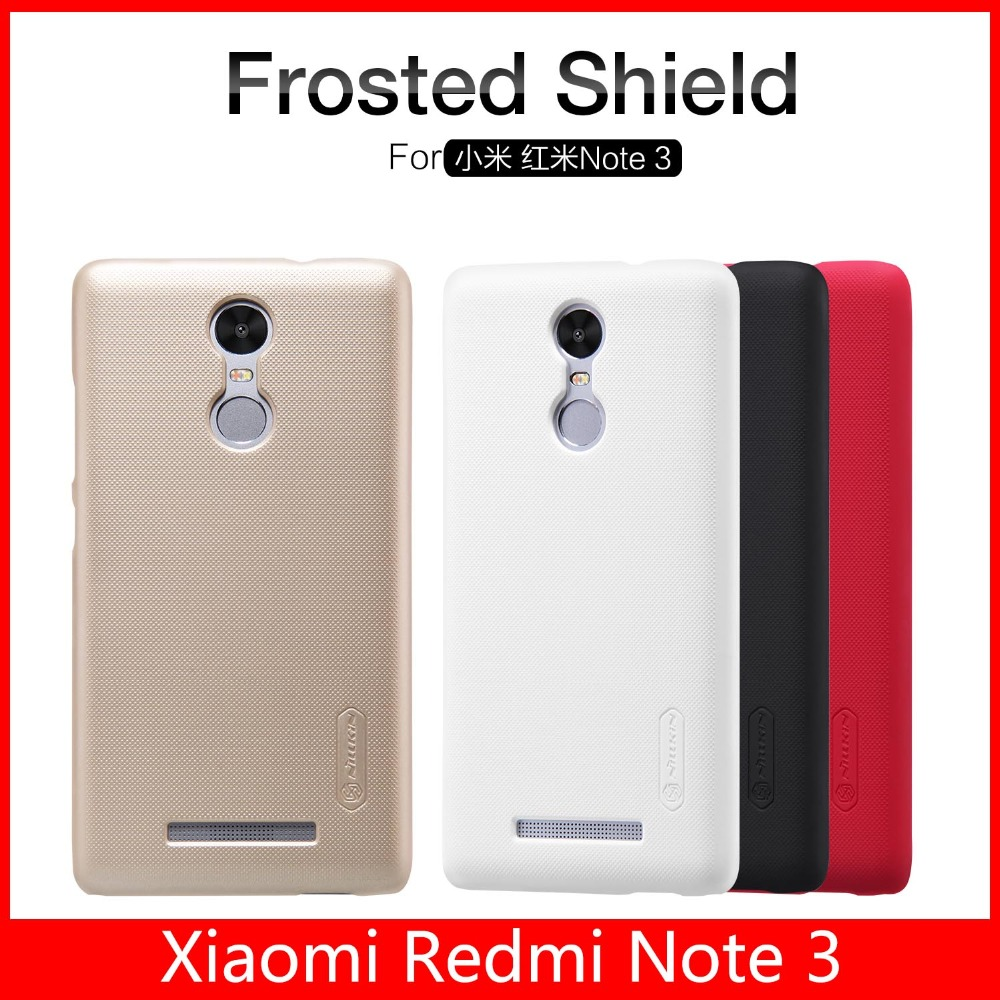 2015 Original NILLKIN Super Frosted Shield Case for Xiaomi Redmi Note 3 back cover matte shell + Screen Film