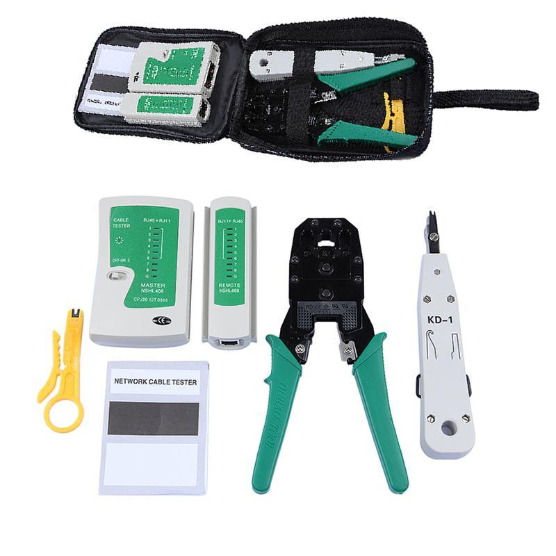 portable ethernet network cable tester tools kits rj45 crimping rh beecleanhome com network wiring toolkit best network wiring tools