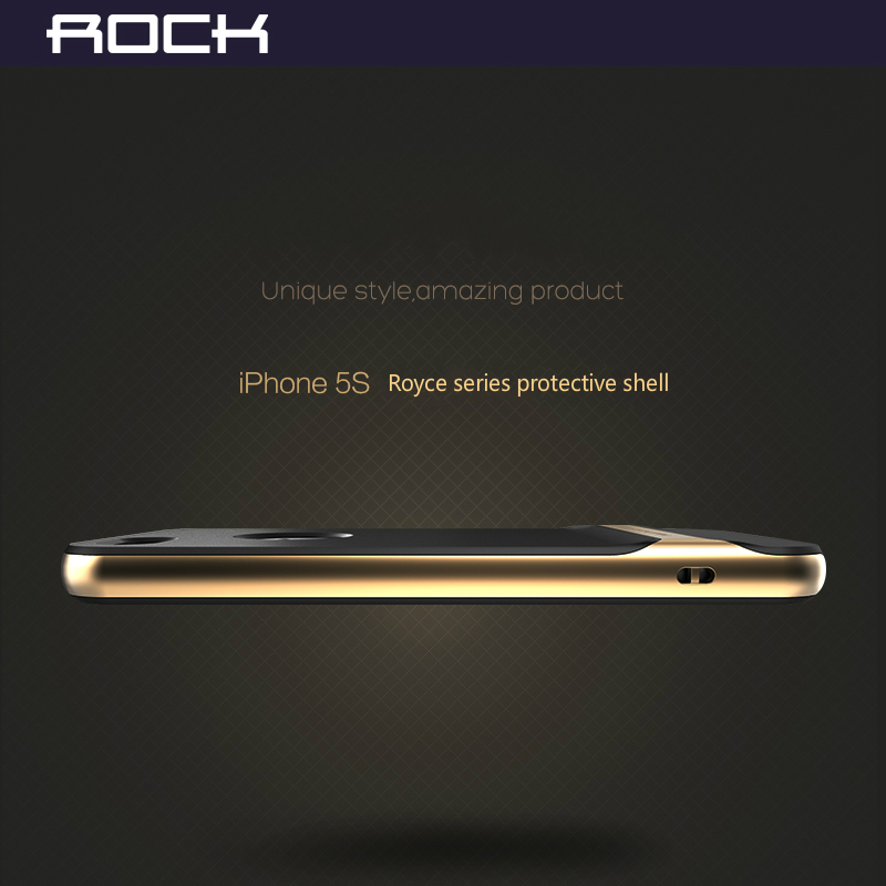 save off 950ab d75ed ROCK Original phone case For iPhone 5 5S Royce Series Luxury Slim Armor  cover shell For AppleBack Cover H15