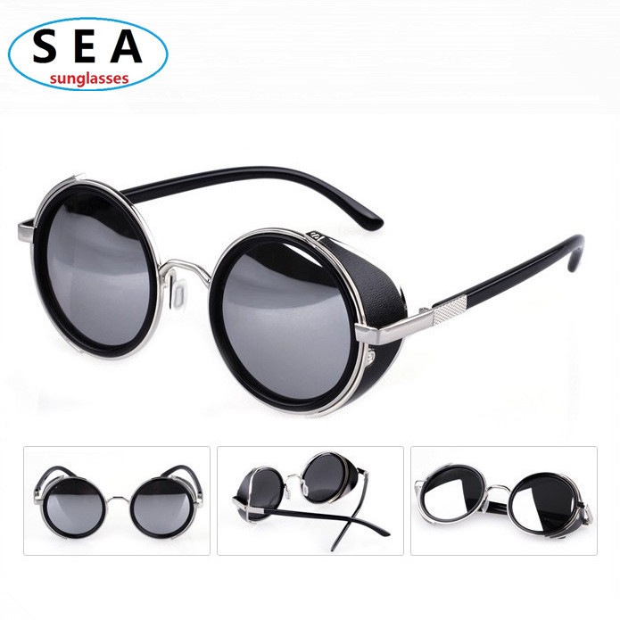designer sunglasses men 3ar2  STEAMPUNK women round Designer Fashion steam punk Metal OCULOS de sol women  SUNGLASSES New Men Retro CIRCLE Sun GLASSES s0004