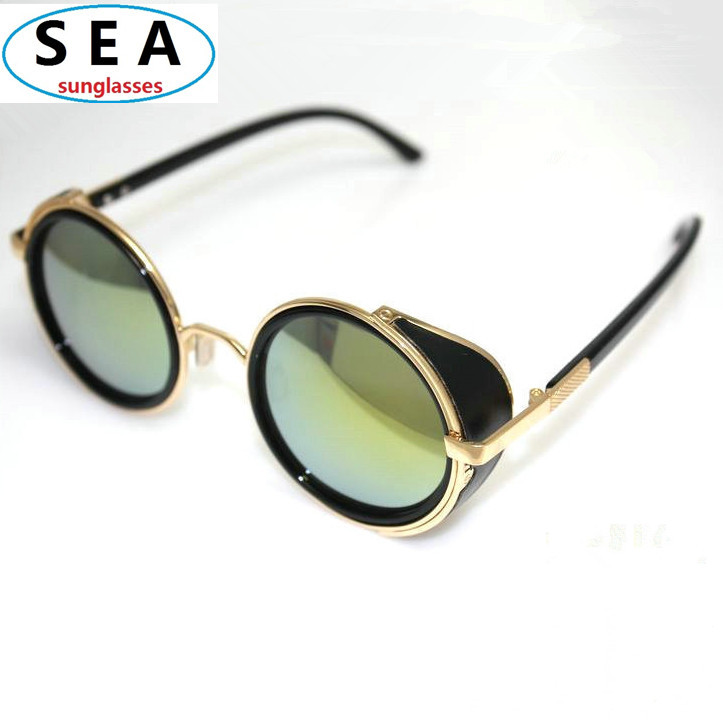 round designer sunglasses  STEAMPUNK women round Designer Fashion steam punk Metal OCULOS de ...