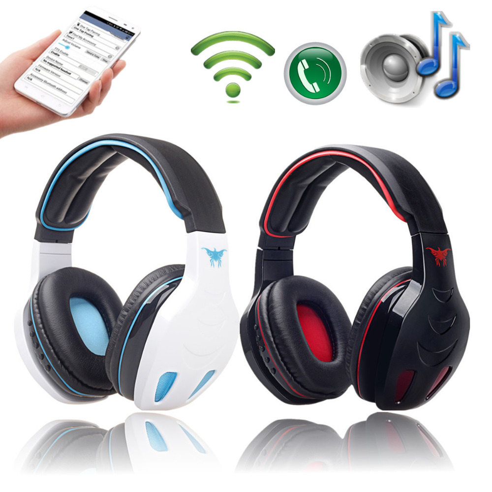 Stn 08 Protable Wireless Bluetooth Stereo Headphone Headset Gaming Bass With Mic Fm Mp3 Eq Tf Slot For Phone Tablet Pc Bee Clean Products