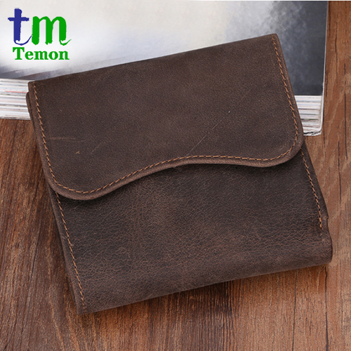 6a2187a60f Vintage Crazy horse Handmade Real Leather Men Wallets Multi-functional  Cowhide coin purse genuine leather wallet for men TW1603