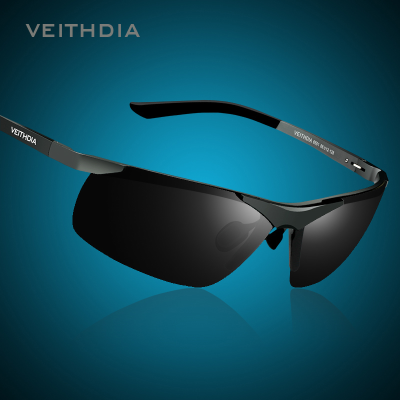 cc865e9826a 2014 VEITHDIA 6520 Men s Sunglasses Brand Polarized Sunglasses Driving  Sport Vintage Gafas De Sol Wayfarer Glasses