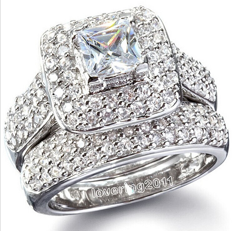 e products engagement set diamond silver rings stone simulated aeng three