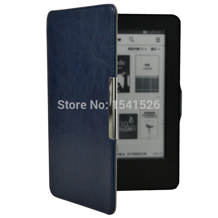 hand-hold leather cover case for Amazon kindle touch 7 7th generation  eBooks ereader+screen protector+stylus