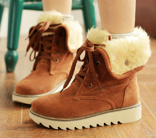 9edd5cb6b33 winter boots 2016 fashion women boots shoes women casual ankle boots Matte suede  snow boots cotton padded high warm platform