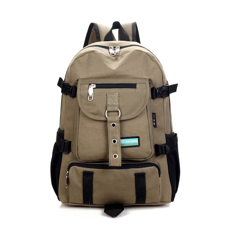 a6501c3037 Fashion casual bag male backpack school bag canvas bag male backpack ...