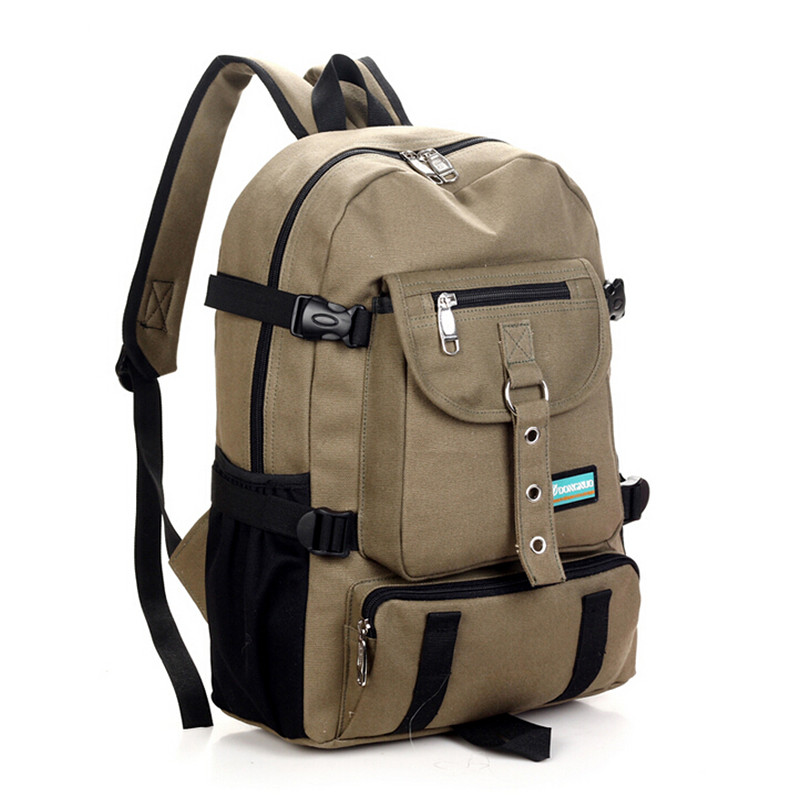 27c6e5f9b351 Fashion casual bag male backpack school bag canvas bag male backpack ...