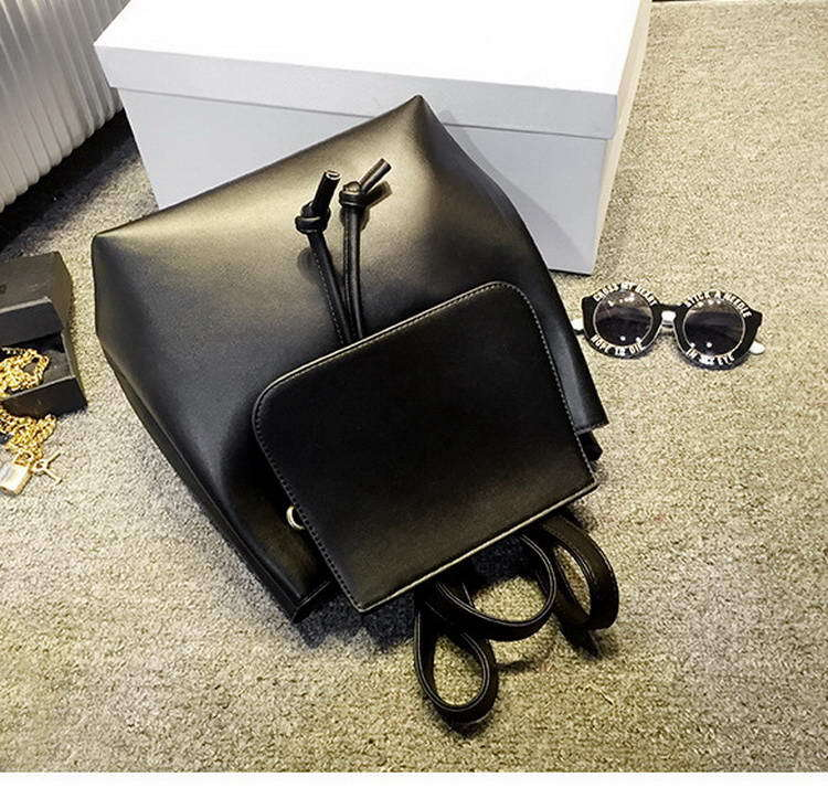 b0475e0fee Vintage PU leather backpack simple style leather women bag fashion brand  design travel bag school bag WLHB1191