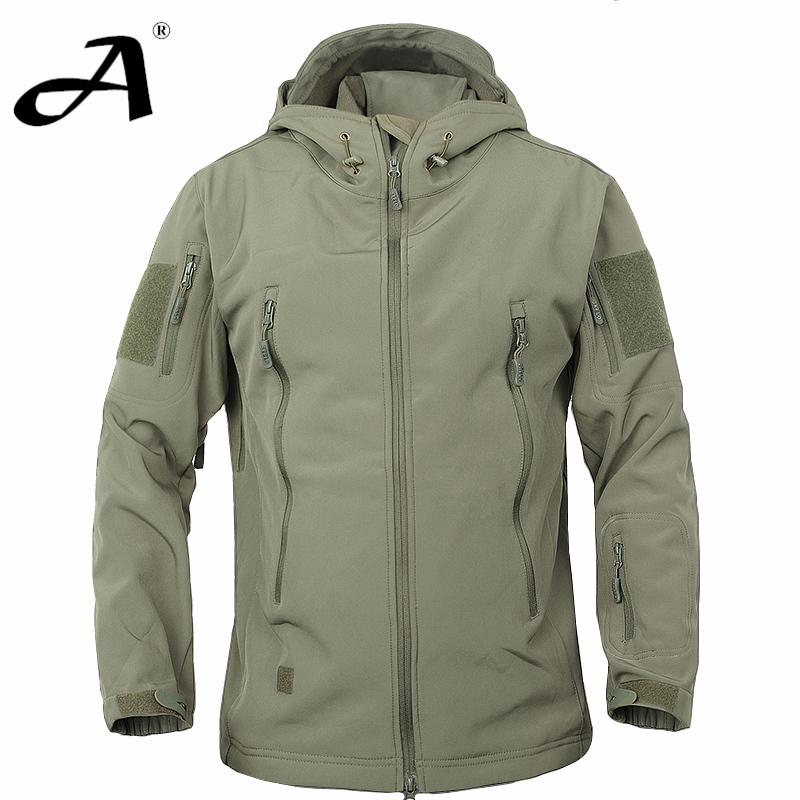 7a742613cfde6 Army Camouflage Coat Military Jacket Waterproof Windbreaker Raincoat Hunting  Clothes Army Jacket Men Outdoor ...
