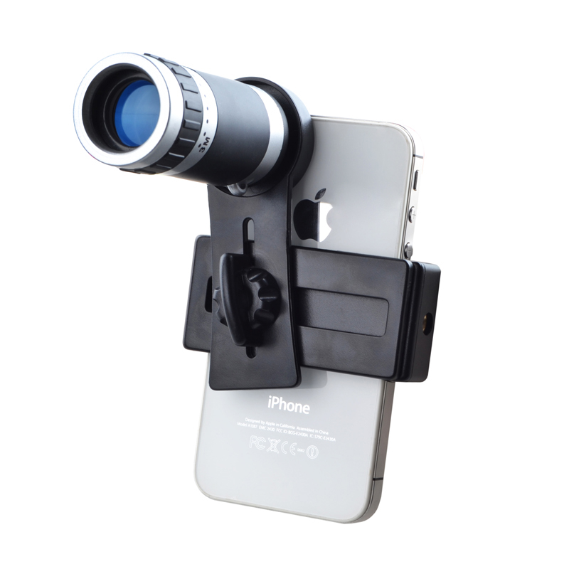 Free Shipping Universal 8X Optical Zoom Telescope Camera Telephoto Lens for iPhone Samsung HTC Mobile Phone