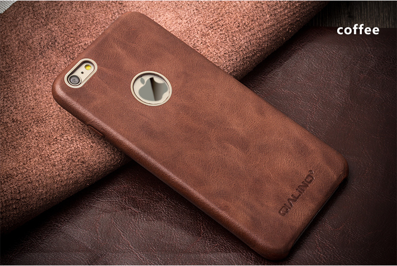 55d72b8bfec QIALINO Case For iphone 6 6s Luxury Calf Skin Genuine Leather cover for  iphone6 6s plus 4.7 5.5inch Ultra Slim Phone Case