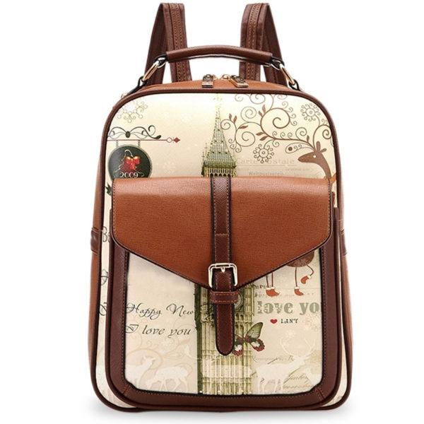 High quality PU leather backpack school bags for teenagers girl ...