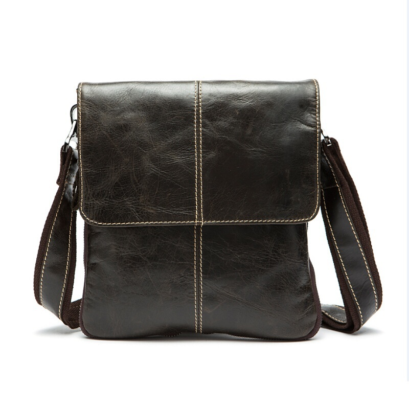Genuine Leather Bag Cowhide Men Vintage Designer Crossbody Bags Desigual Small Messenger Quality
