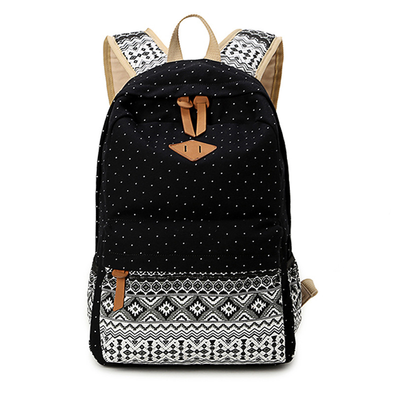 c2f8df2402ed Korean style women bookbags canvas printing backpack cute school bags  backpacks for teenage girls