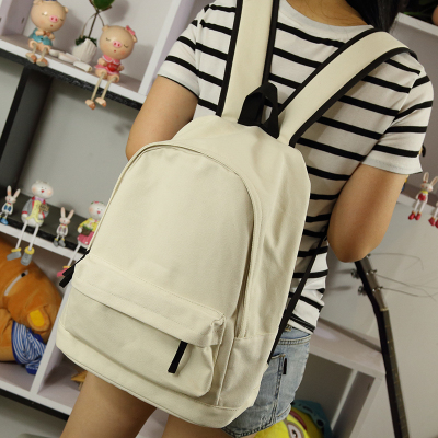 442f1032a7 Simple Korean style pure candy color women backpack college student school  book bag leisure backpack