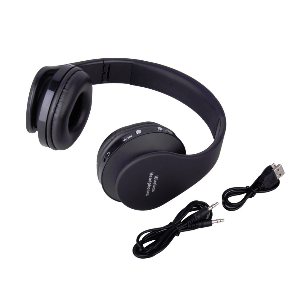 foldable wireless stereo bluetooth headset for iphone cellphone pc laptop bee clean products. Black Bedroom Furniture Sets. Home Design Ideas