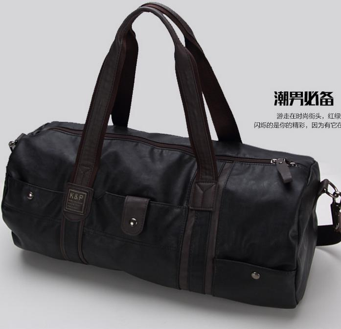 fd94dfeb3a high quality brand men leather travel bag men s vintage duffel bag large  capacity gym bag shoulder strap outdoor sport tote 696t
