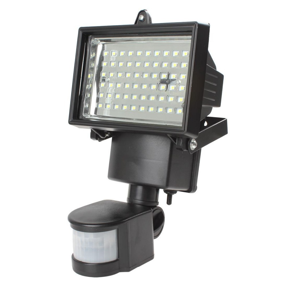 Solar Panel Led Flood Security Garden Light Pir Motion